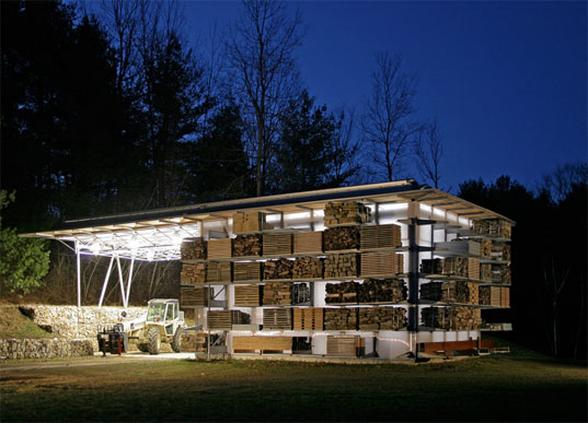 storage barn, storage structure, storage facility, solar-powered storage, green building, sustainable building, storage shed, shed, emerging voices architecture, gray organschi architecture, elizabeth gray, alan organschi