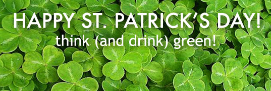 saint patrick's day, green drinks, saint paddy's day, sustainable food and drinks, organic beer, green holiday, green design
