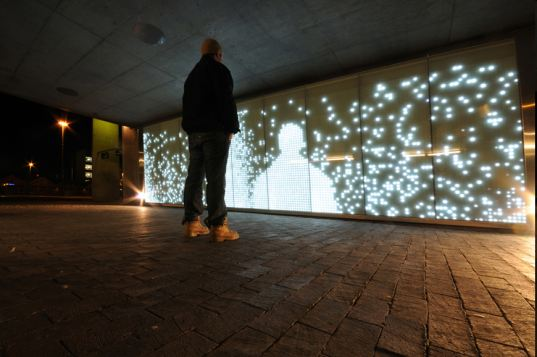light installation, art installation, light movement, shadow light installation, LED lights, LED motion sensors, ar in public spaces