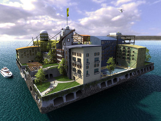 sustainable design, green design, seafaring city, seastead, andras gyorfi, swimming city, green building, sustainable architecture