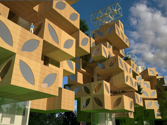t-tree, modular housing, reburbia, suburbs, suburbia, Adil Azhiyev, Ivan Kudryavtsev, Light+Space, pre-fabricated housing, sustainable architecutre