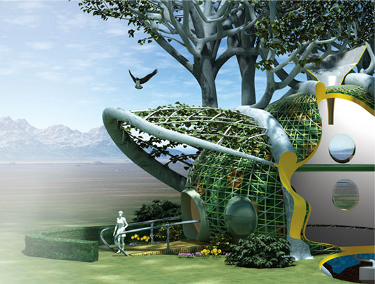 Terreform, Terreform, Michael Sorkin, Mitchell Joachim, Postopolis, Future-forward green design, green architecture, living tree house, growing treehouse, living architecture, fab tree hab, Omni Bub, shoe car, sheep car, sustainable design