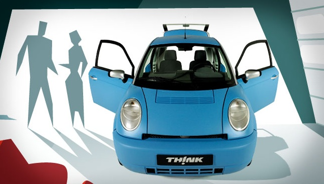 Think car, THINK electric car, electric car, zero emissions vehicle, zero emissions car, THINK automotives, THINK vehicle, compact car, green transportation, sustainable cars, transportation tuesday