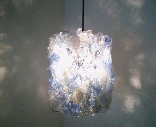 THIS lamp, THIS Gallery, Reta Howell, Vana Howell, recycled plastic bottles, recycled materials, recycled lighting, reuse lighting fixtures, reuse sustainable design, plastic recycling, thislamp1.jpg