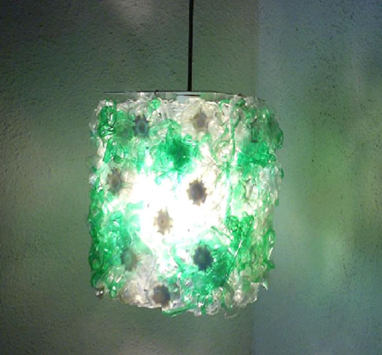 THIS lamp, THIS Gallery, Reta Howell, Vana Howell, recycled plastic bottles, recycled materials, recycled lighting, reuse lighting fixtures, reuse sustainable design, plastic recycling, thislamp2.jpg