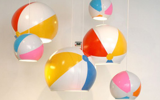 Toby Sanders, Tobyhouse, Beach Ball lamp, beachball lamp, green design, eco lamp