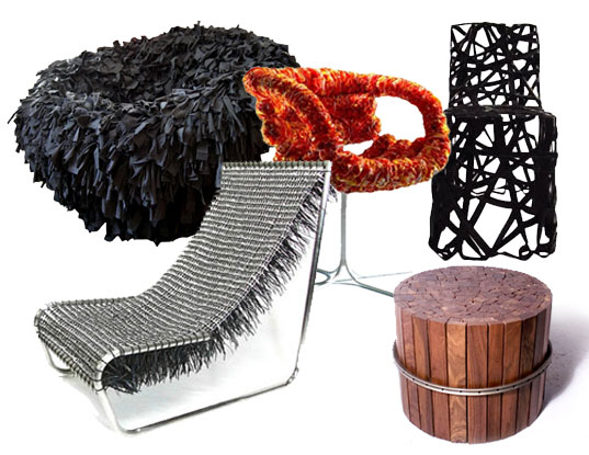 TOP 5 CHAIRS MADE FROM TRASH, Top five ways to sit on trash, Top 5 recycled chairs, sustainable design, green chair design