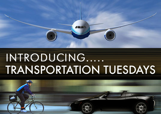 TRANSPORTATION TUESDAY START TODAY! Introducing Transportation Tuesdays, Inhabitat Transportation Tuesdays, Sustainable Transportation, Eco-Travel, Green Transportation, Green Automobiles, Eco Cars, green cars, eco cycles, green air travel