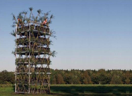 world's first building of just trees, living building, germany, stuttgart, trees