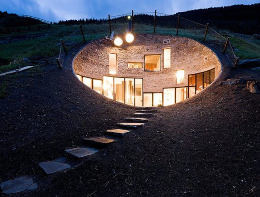 sustainable design, green design, vals, switzerland, search, christian muller, green building, underground house, hill house