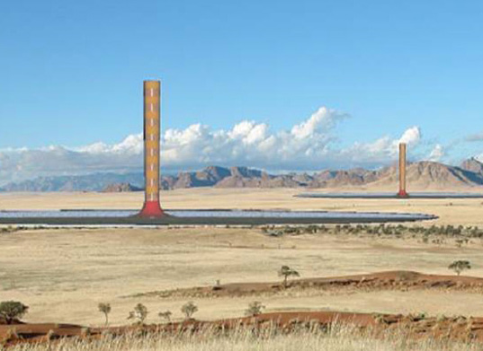 solar updraft tower, hahn & hahn, namibia, solar energy, alternative energy, solar power, desert greenhouse