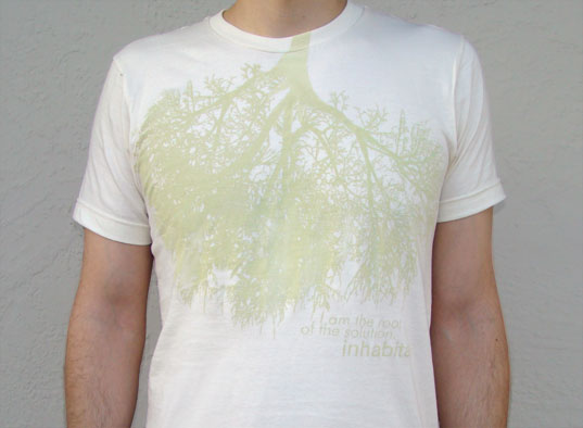 'Inhabitat Root Lungs T-shirt, Inhabitat Green Root Tee, Inhabitat Eco Tee, Inhabitat T-shirt, Inhabitat Tee, Inhabitat eco-friendly T-shirt, Inhabitat apparel, eco T-shirt, sustainable T-shirt, organic cotton T-shirt, organic tee, green tee