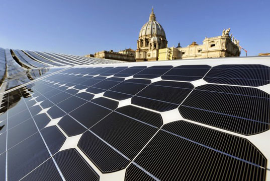 solar powered vatican, sustainable design, green design, renewable energy, europe's largest solar plant, solar power, photovoltaic panels, green pope, alternative energy