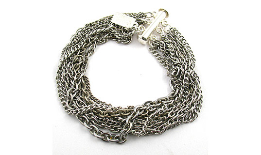 recycled chains, recycled chain bracelet, eco jewelry
