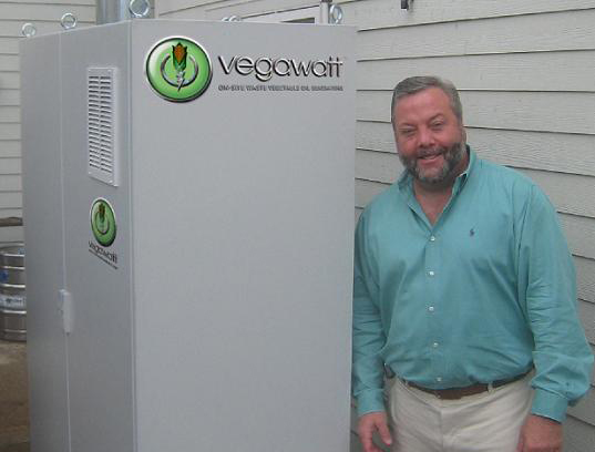 vegawatt, restaurant cogeneration, sustainable design, alternative energy, biofuel, fry oil cogeneration plant, veggie oil power, fry power
