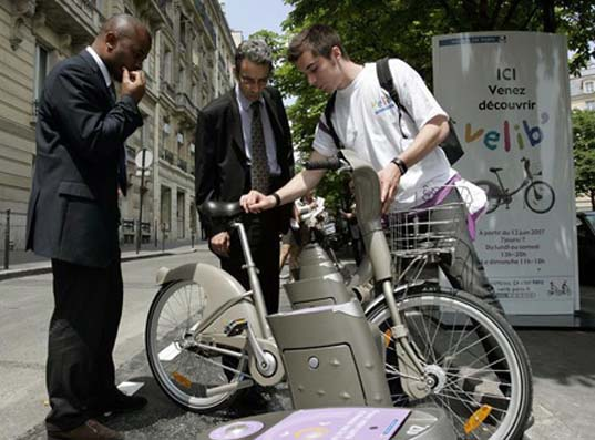 velib, bike sharing, sustainable transportation, mass transit solutions, paris, grance, new york, david haskell