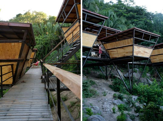 V-Houses, Heinz Legler, eco retreat, eco vacation, prefab house, prefab retreat, prefabricated jungle shelter, eco modern getaway