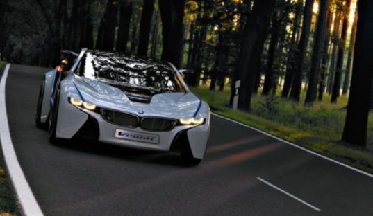 BMW Vision EfficientDynamics concept vehicle, BMW's hybrid turbodiesel concept supercar,