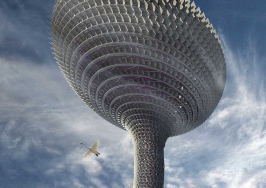 vision division, tornado tower, wind energy, rotating facade, opera, tapei