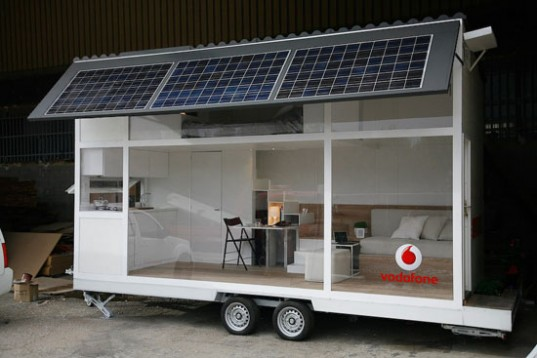 green design, prefabricated housing, trailer home, camper, transportation, vodafone, blogger, home, mobile home