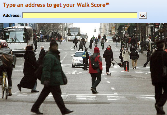 WALKSCORE, walkable communities, walking, benefits of walking, green transportation, eco transport, green urban planning