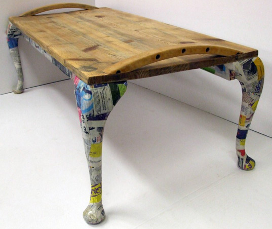 jamie ward, recycled furniture, second hand furniture, recycled materials, furniture art, recycled table