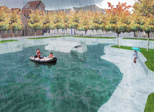 sustainable design, green design, public space, green architecture, water, Waterpleinen by Floria Boer and Marco Vermeulen