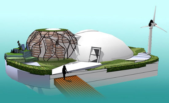 waterpod, floating architecture, sustainable building, green design, sustainable architecture, recycled materials, eco floating architecture