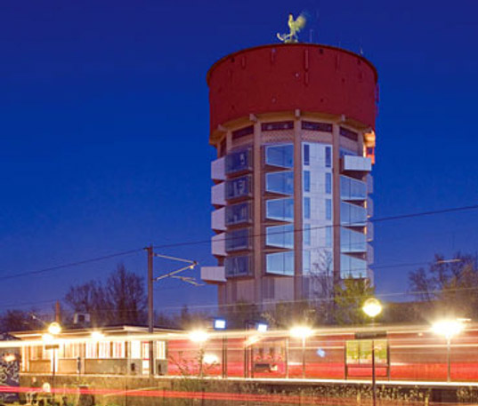 water tower renovation, sustainable architecture, green building, adaptive reuse, sustainable design, daylighting, dorte mandrup arkitekter aps