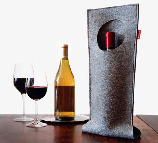 josh jakus, wine bag, wine pocket, winepocket, felt wine bag, felt accessory, felt gift, recycled felt, ecofriendly wine bag, eco tote