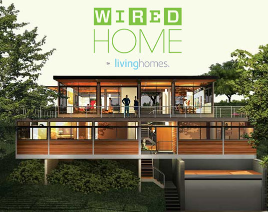Wired living home, Living Homes, LivingHomes, Steve Glenn, Ray Kappe, Green prefab, prefab housing, prefab house