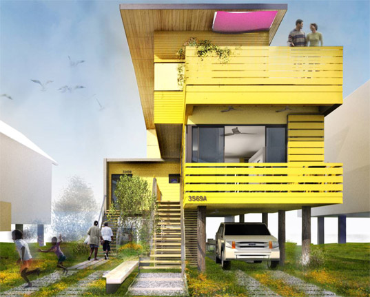 WM+P, William McDonough Partners, Flow House, Sustainable Housing, Green Housing, Make it Right, Lower 9th