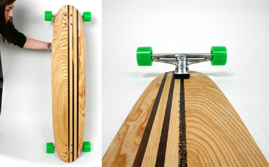 Funkinfunction, reclaimed wood skateboard, recycled longboard, recycled skateboard, reclaimed wood board, longboard, sustainable skateboard, eco skateboard