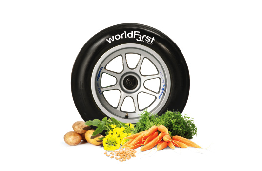 World First F3 racing car, car made out of vegetables, green car formula one racing, f1 sustainable vehicle, formula 1 racing, sustainable transportation, green design, bioplastic, energy efficient transportation, chocolate powered vehicle