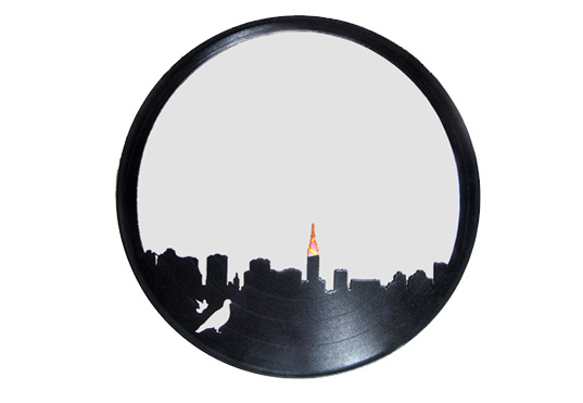 wrecords-product-shot, wrecords-giveaway, wrecords, recycled lp, recycled records, upcycled mirror, recycled mirror, lp mirror, new york city, green furniture, green mirror